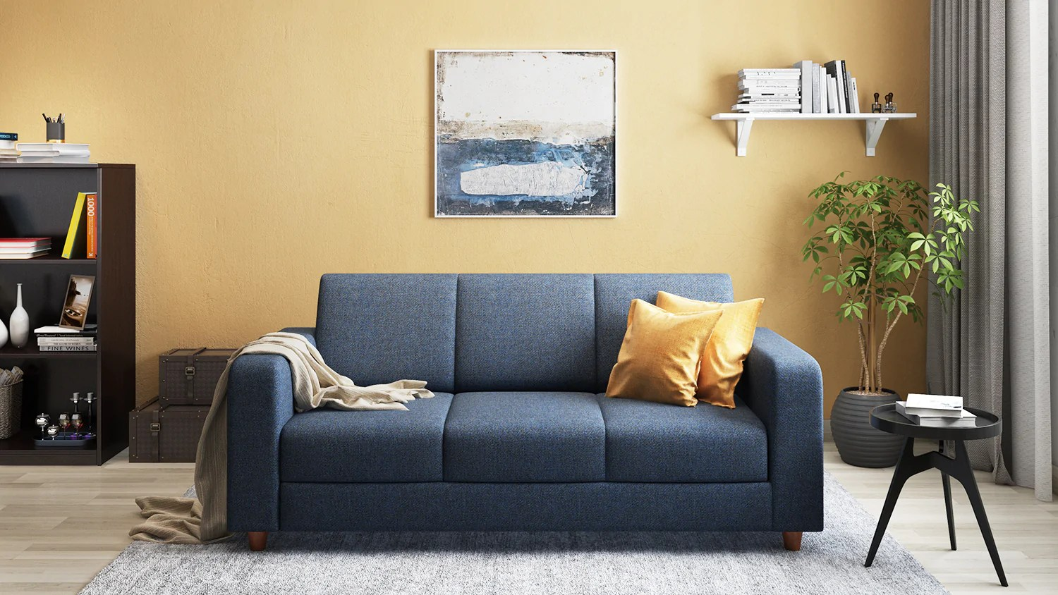 Yellow Sofa Online India Eric 3 Seater Sofa