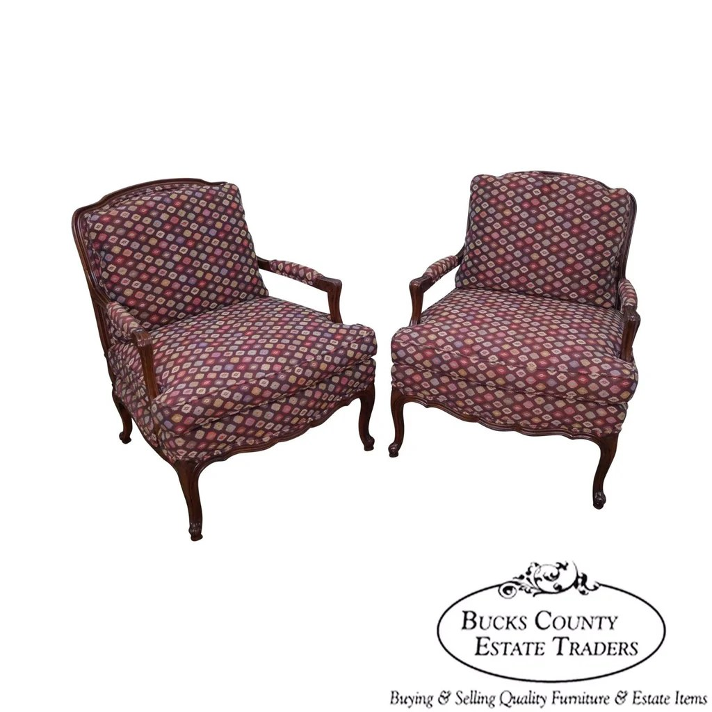 Fauteuils Lounge Quality Pair Of French Louis Xv Style Wide Seat Fauteuils Lounge