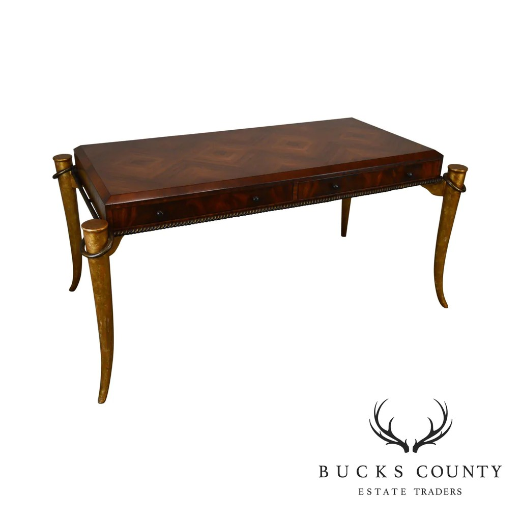 Unusual Desk Maitland Smith Unusual Horn Leg Writing Desk Bucks County Estate