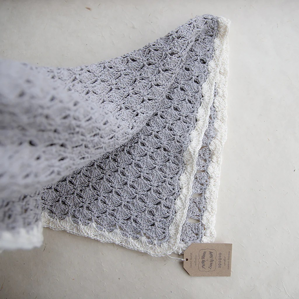 Crocheted Baby Blankets Designer Hand Crochet Baby Blanket Plaid Handmade Cotton And Linen Organic Yarn