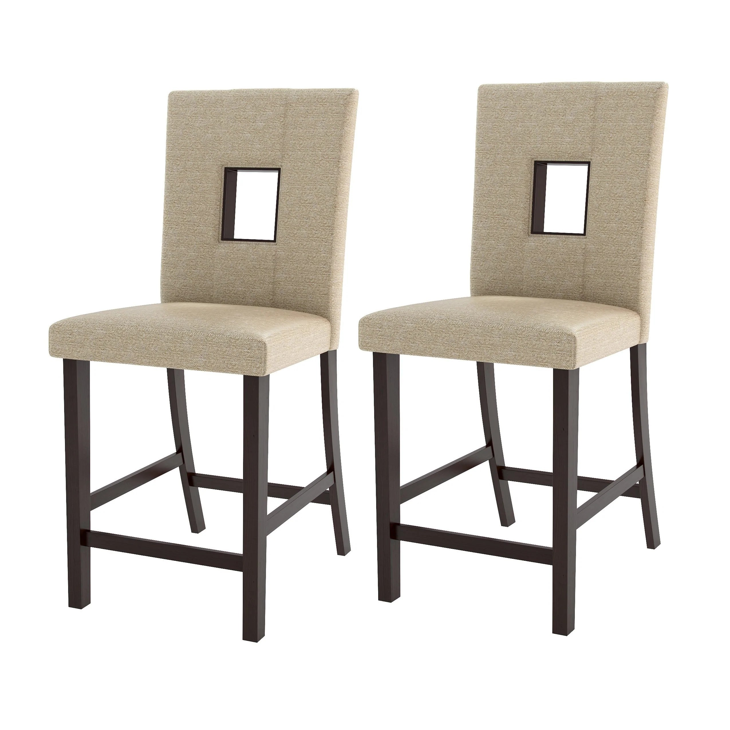 Fabric Counter Height Bar Stools Sand Fabric Counter Height Dining Chairs Set Of 2