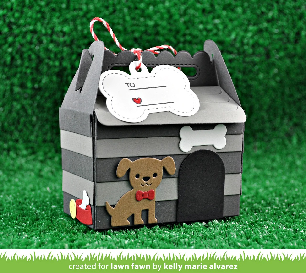 Dog House Scalloped Treat Box Dog House Add On