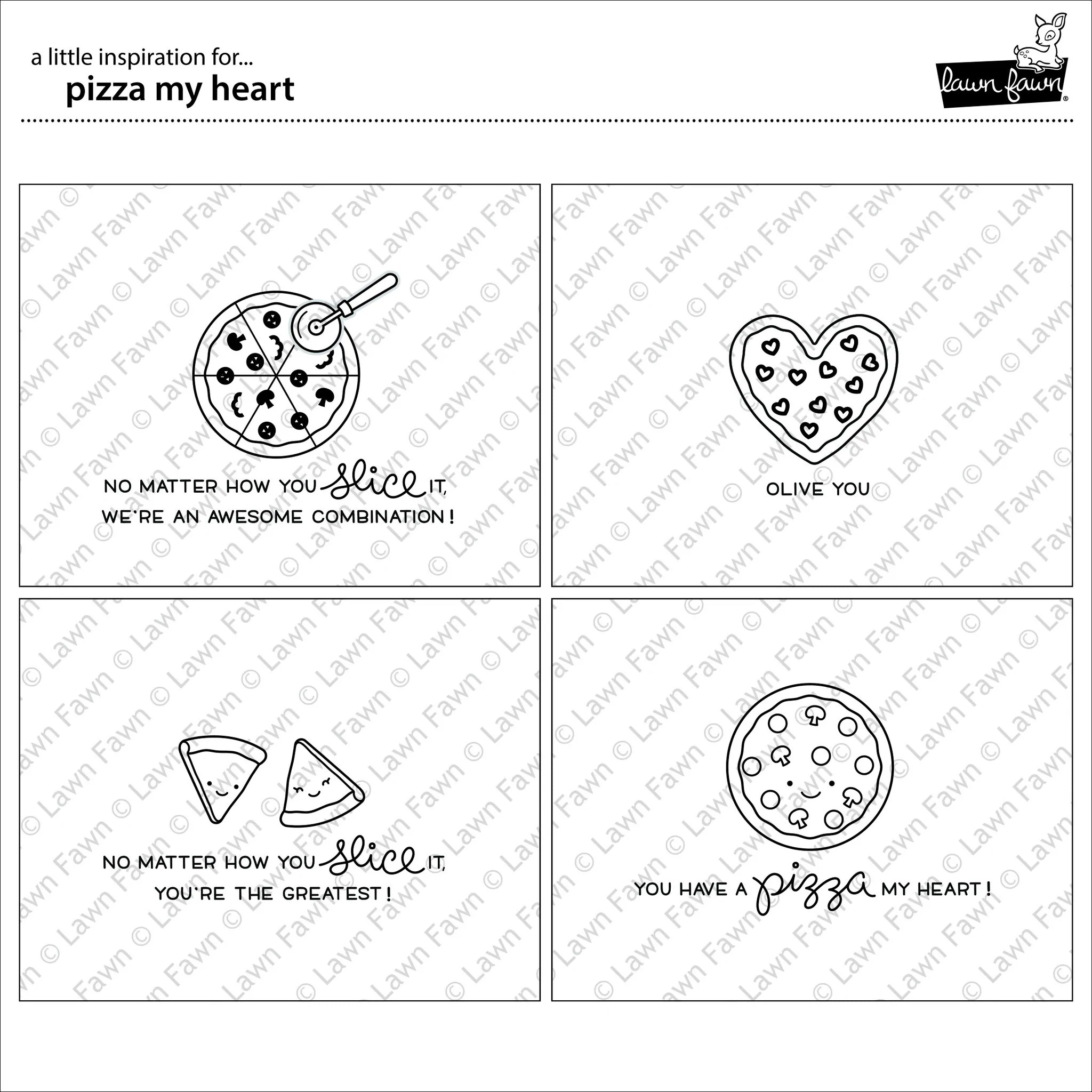 Cute Happy Faces Wallpaper Pizza My Heart Lawn Fawn