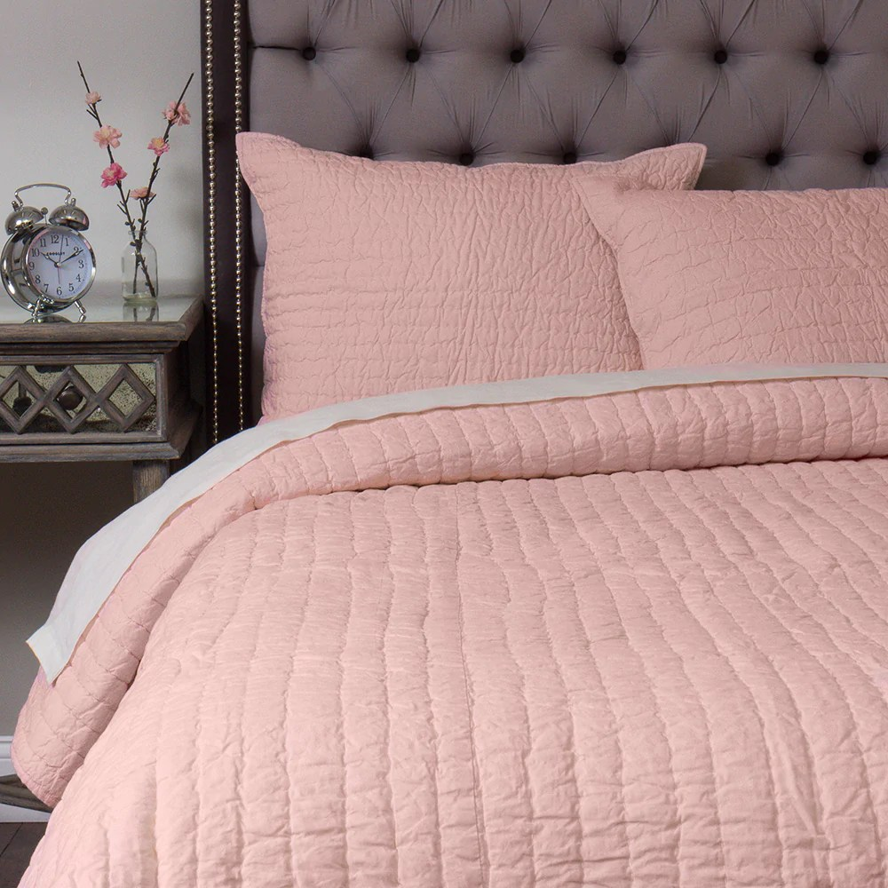 Blush Pink Quilt Cover Solid Blush Pink Quilt