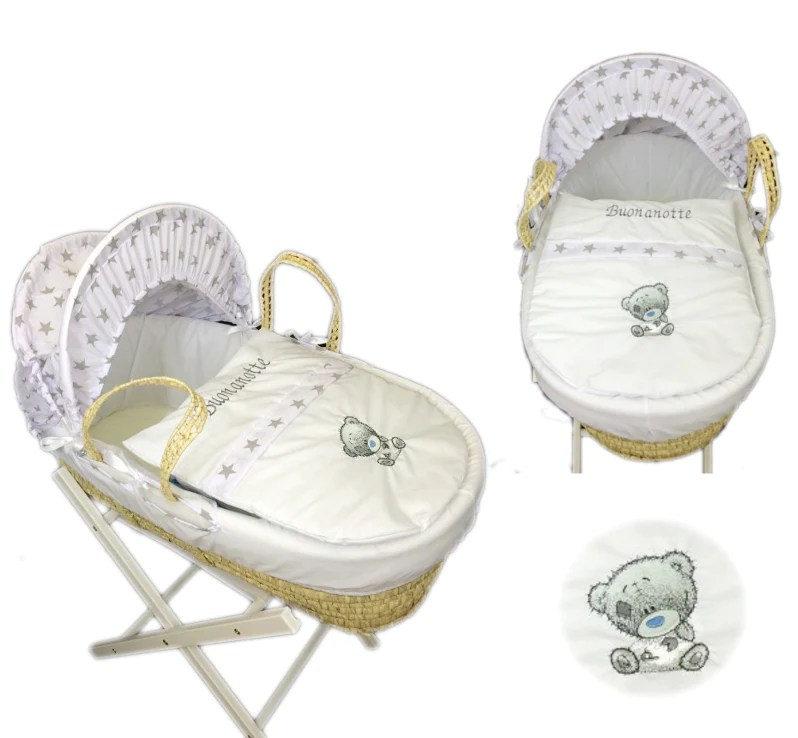 Baby Pram Cover Sets Personalised Grey Star Me To You Moses Basket Set – Small