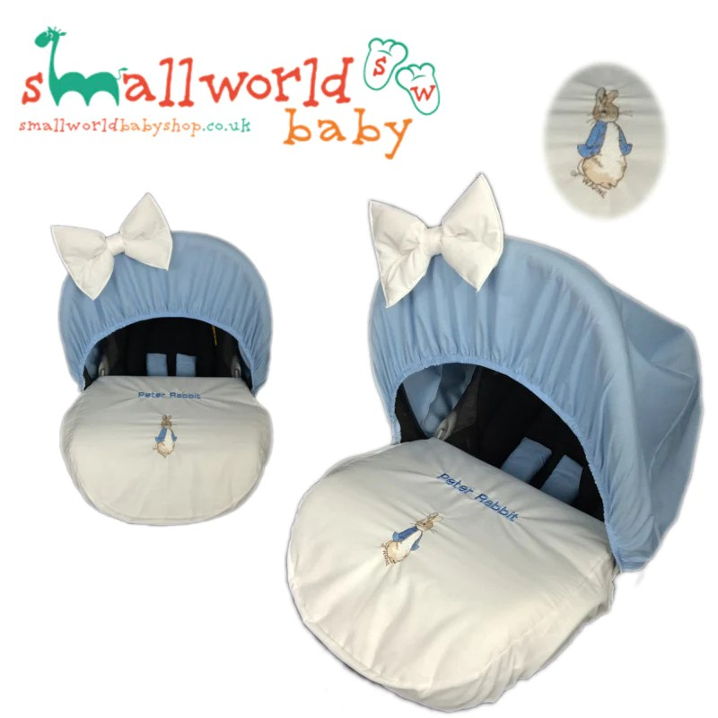 Baby Pram Cover Sets Personalised Peter Rabbit Car Seat Cover – Small World