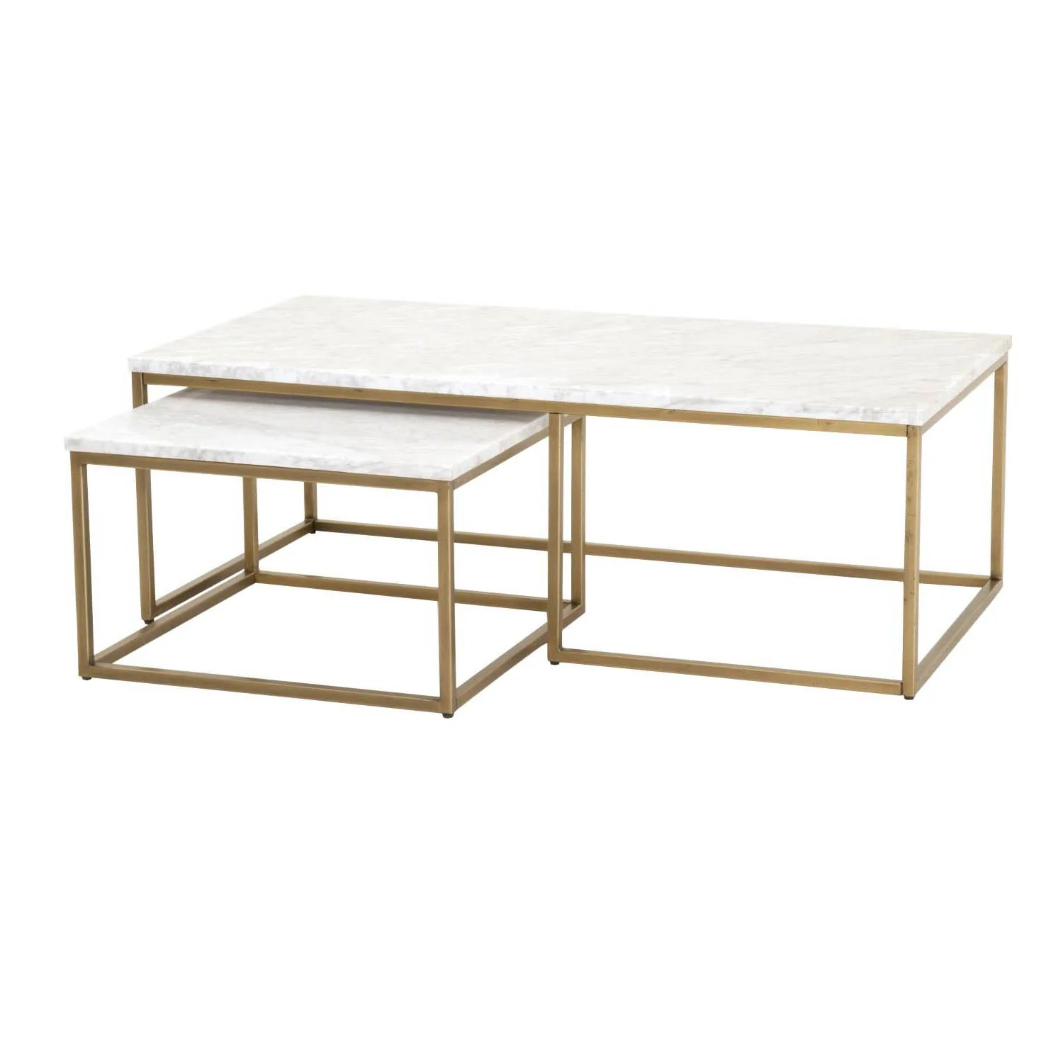 Gold Nesting Coffee Table Carrera Nesting Coffee Table