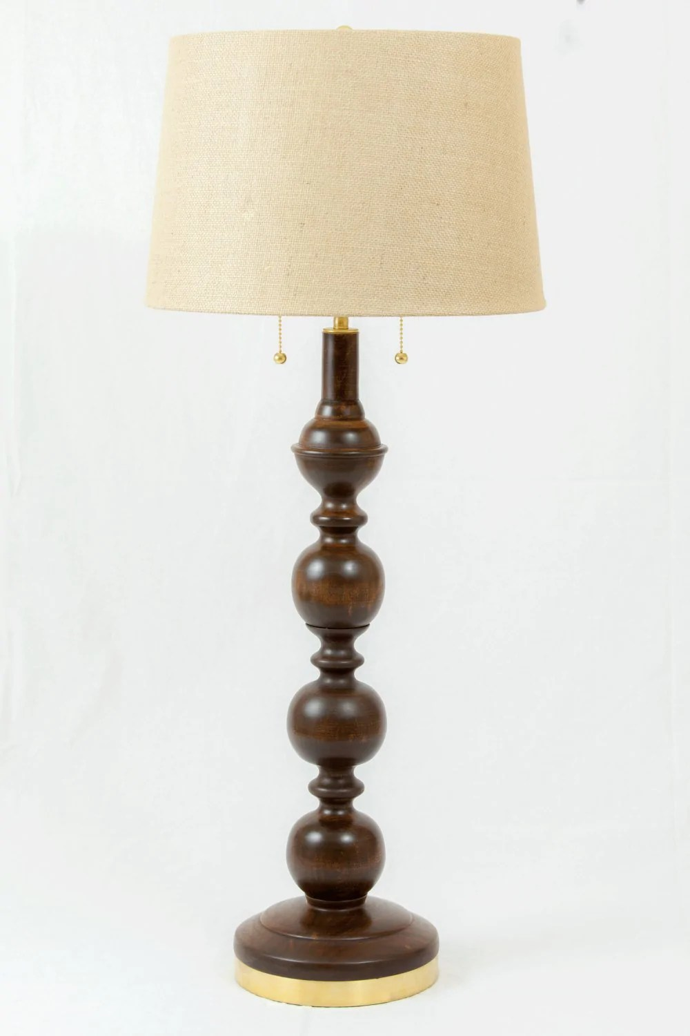 Floor Table Lamps Cherry Floor And Table Lamp Set 2 Table Lamps 1 Floor Lamp Handmade