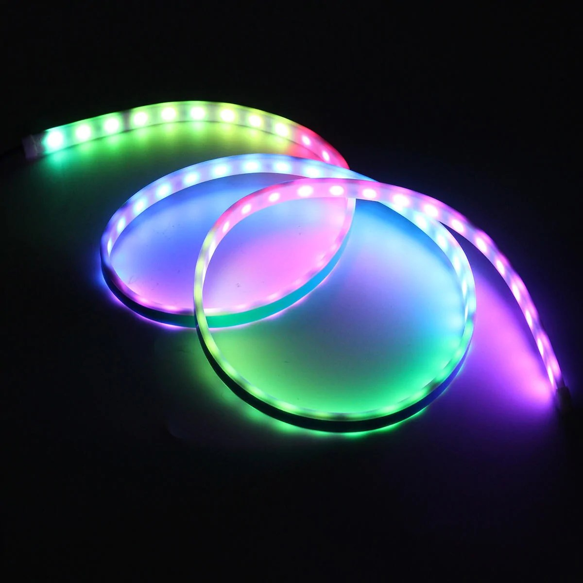 Led Light Strips Rgb Rgb Dc12v 7 5w 150cm Car Rear Trunk Flow Type Tailgate Led Light Strip Brake Light Bar