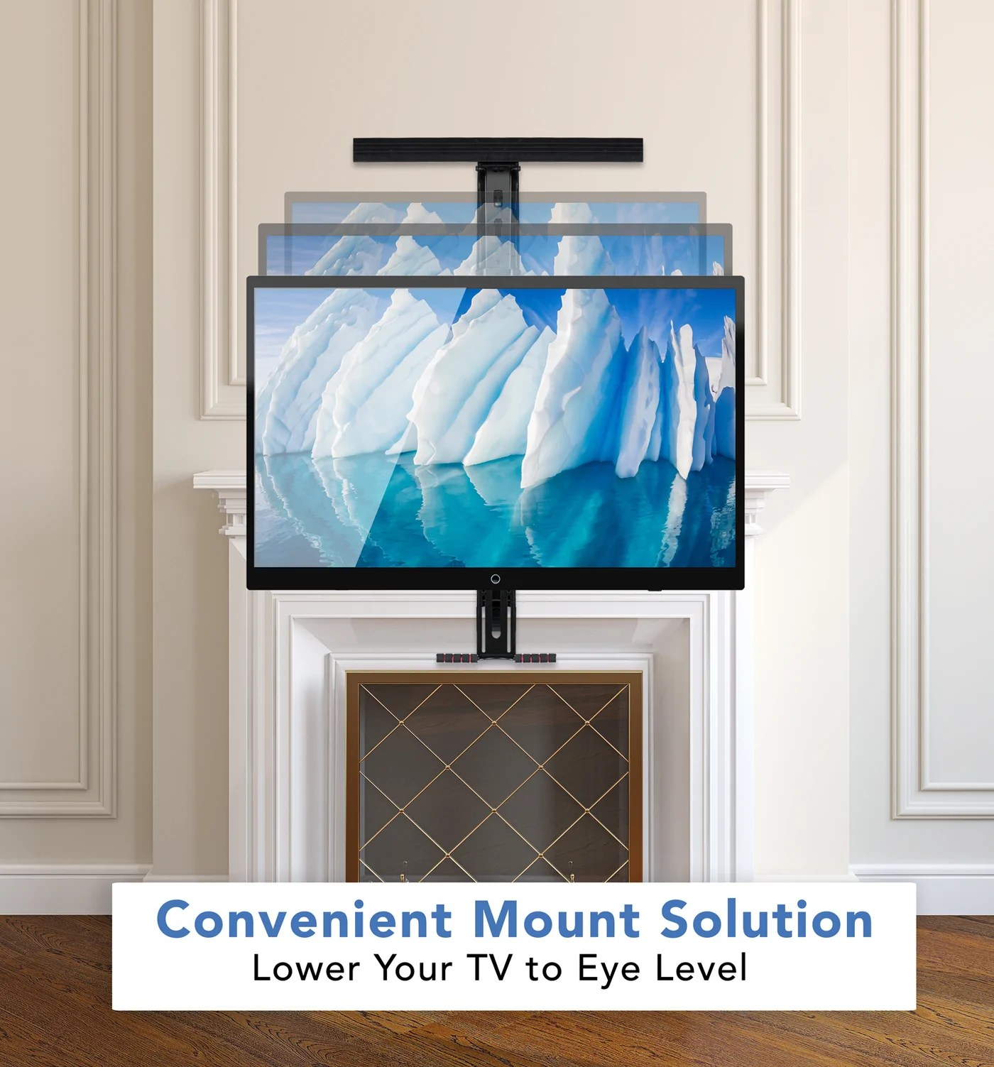 Fireplace Tv Mount Mount It Fireplace Tv Mount Heavy Duty Mantel Tv Mount Pull Down Mounting Bracket With Height Adjustment Fits 50 100 Inch Tvs Mi 373