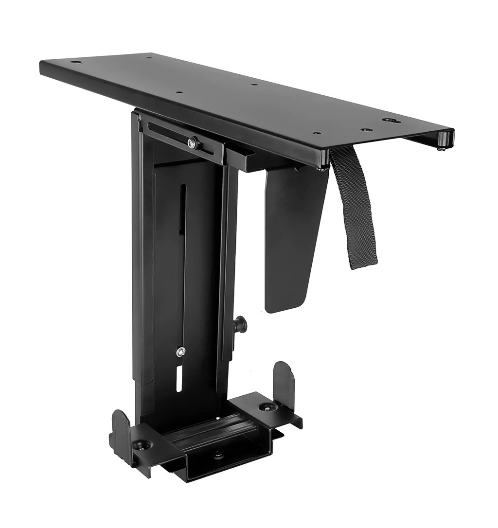 Computer Under Desk Mount Mount It Cpu Under Desk Mount Computer Tower Holder Adjustable Height And Width Wall Mountable