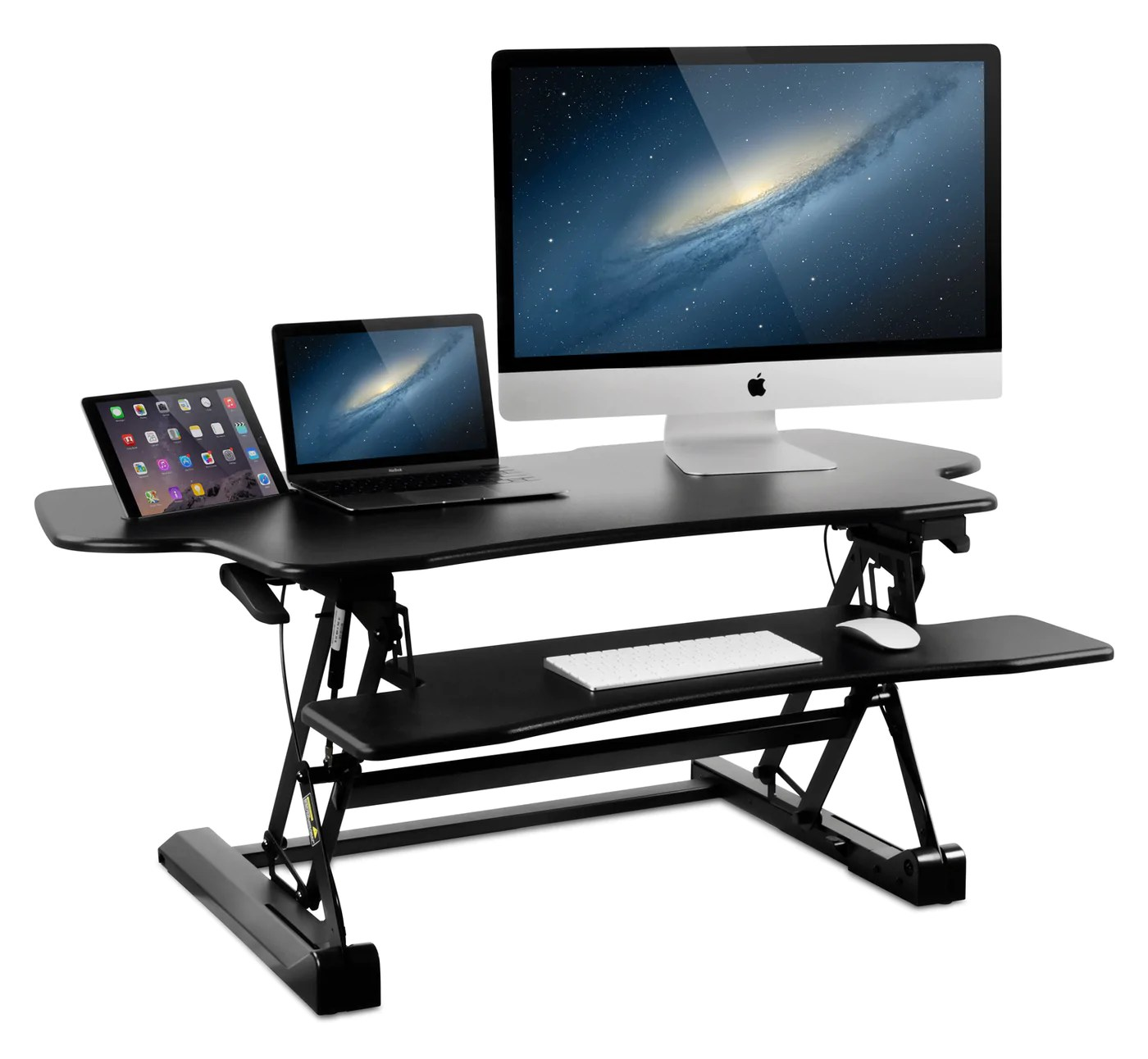 Sit To Stand Desk Mount It Wide Standing Desk Height Adjustable Sit Stand Desk Converter 48 Inch Extra Wide Mi 7925