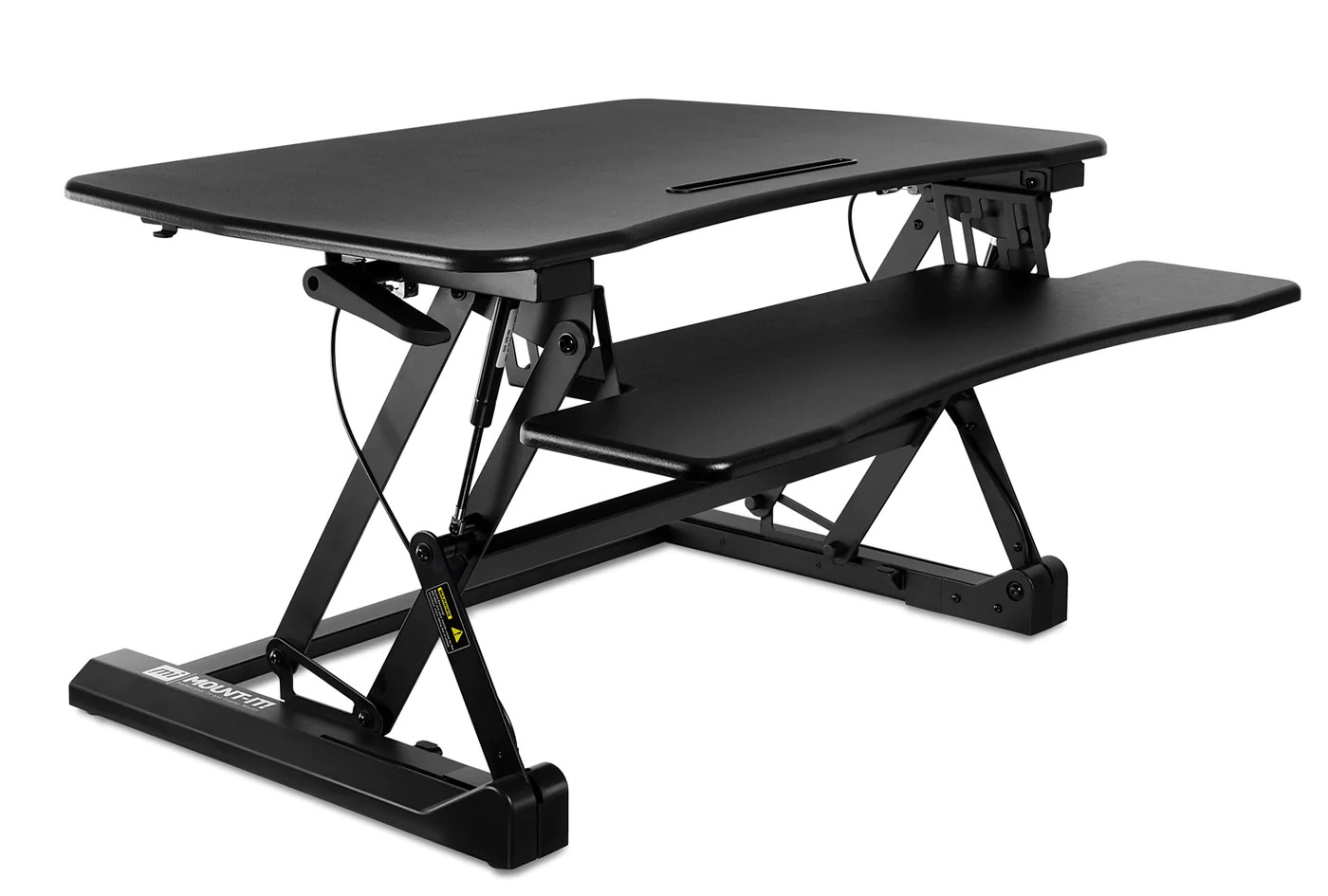 Sit To Stand Desk Mount It Standing Desk Sit Stand Desk Converter Height Adjustable Large Surface Area Mi 7955