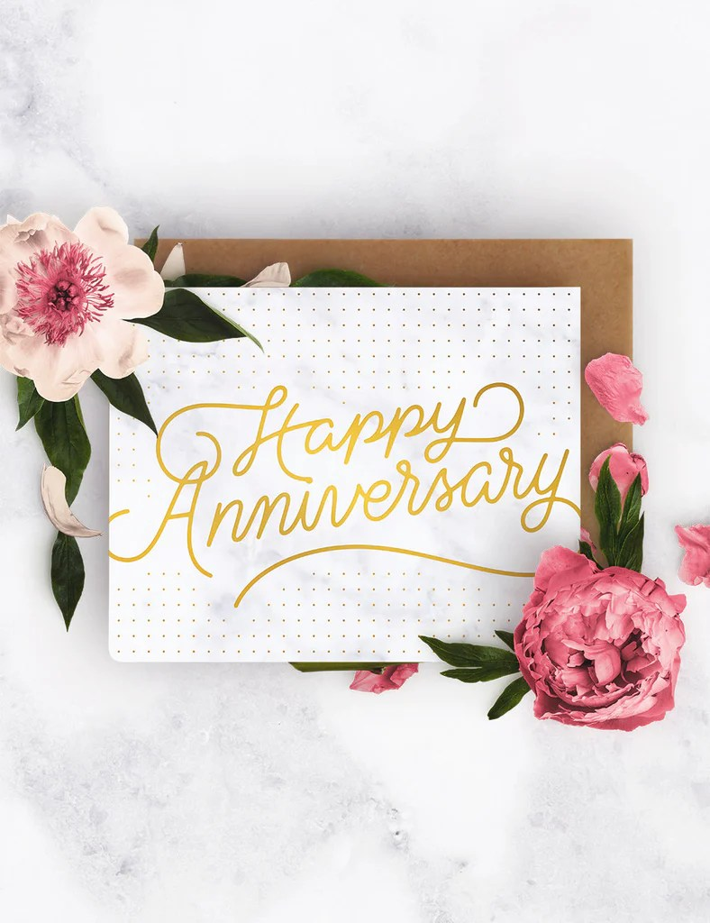 Invitation Material Icon Happy Anniversary Letterpress Greeting Card – Bespoke