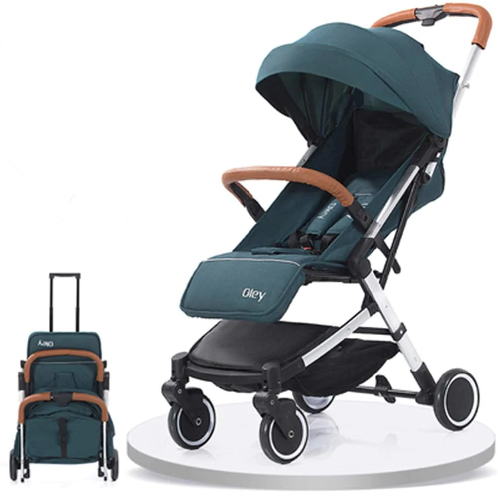 Lightweight Folding Pram Oley 2 In 1 Lightweight Pushchair That Lie Back Folding Prams Children Toddler Babies Strollers From Birth Green Oley 2 In 1 Lightweight Pushchair