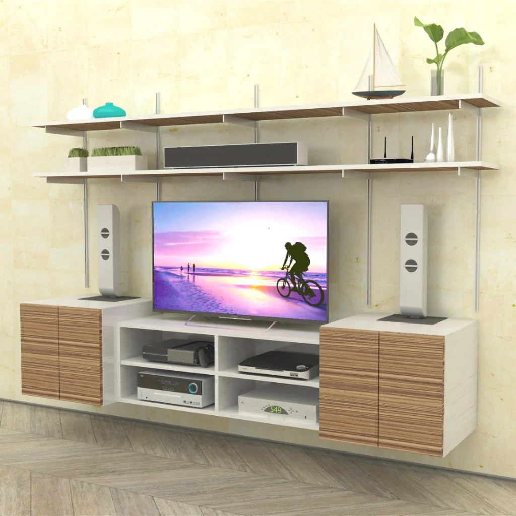 In Wall Media Cabinet Wall Mounted Media Center With Media Cabinet And Storage
