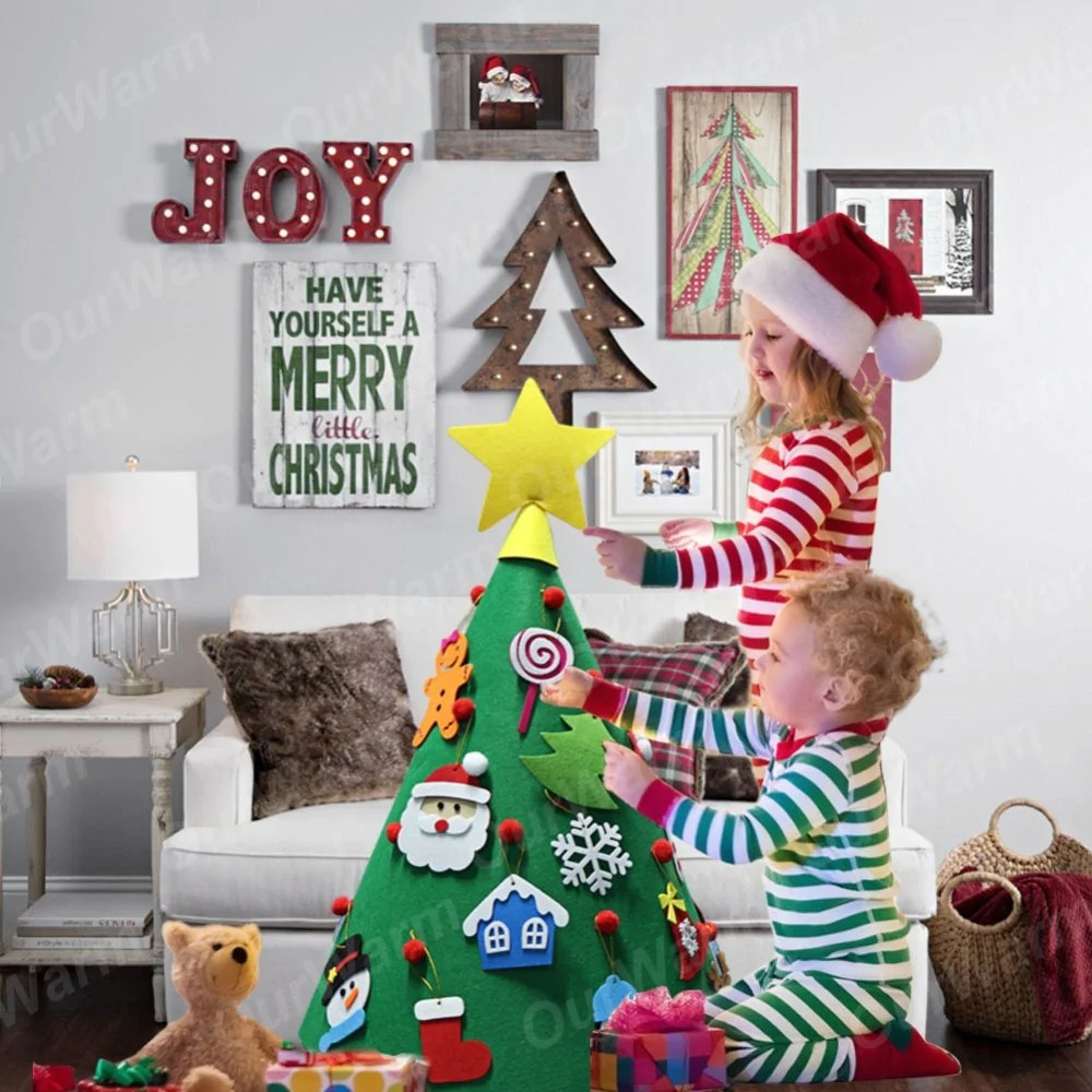 Fengrise Diy Felt Christmas Tree Kids Artificial Tree Ornaments Christmas Stand Decorations Gifts New Year Xmas Decoration 47 Make Felt Christmas Tree All About Christmas Decoration 2018