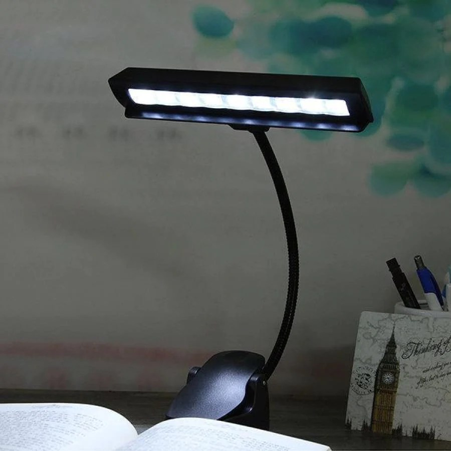 Clip On Bed Lamp Flexible 9 Led Clip On Music Stand Reading Light Bed Table Desk Lamp