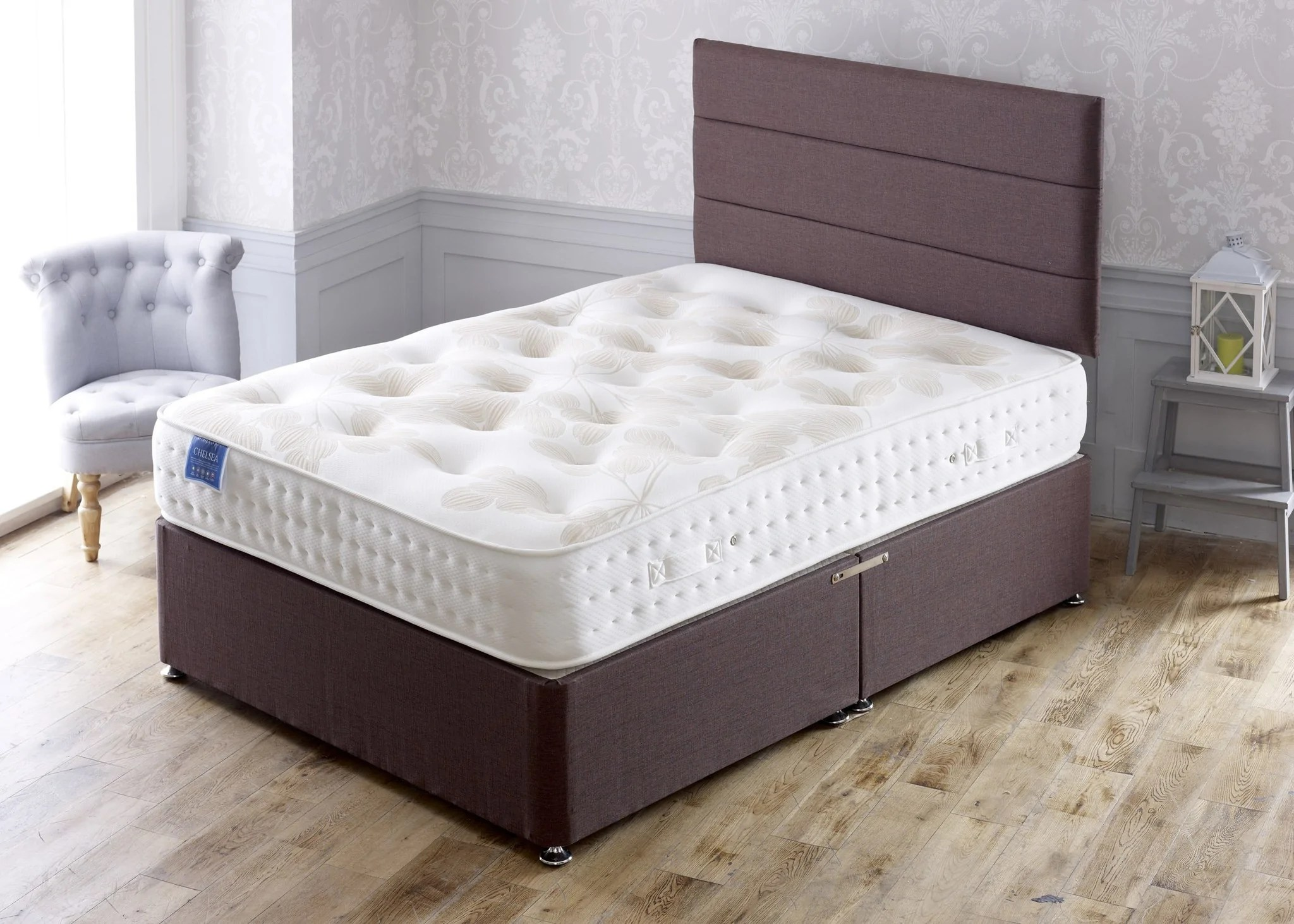 Divan Beds Cheap Chelsea Divan Bed Set With 1500 Pocket Sprung Memory Foam Medium Comfort Mattress