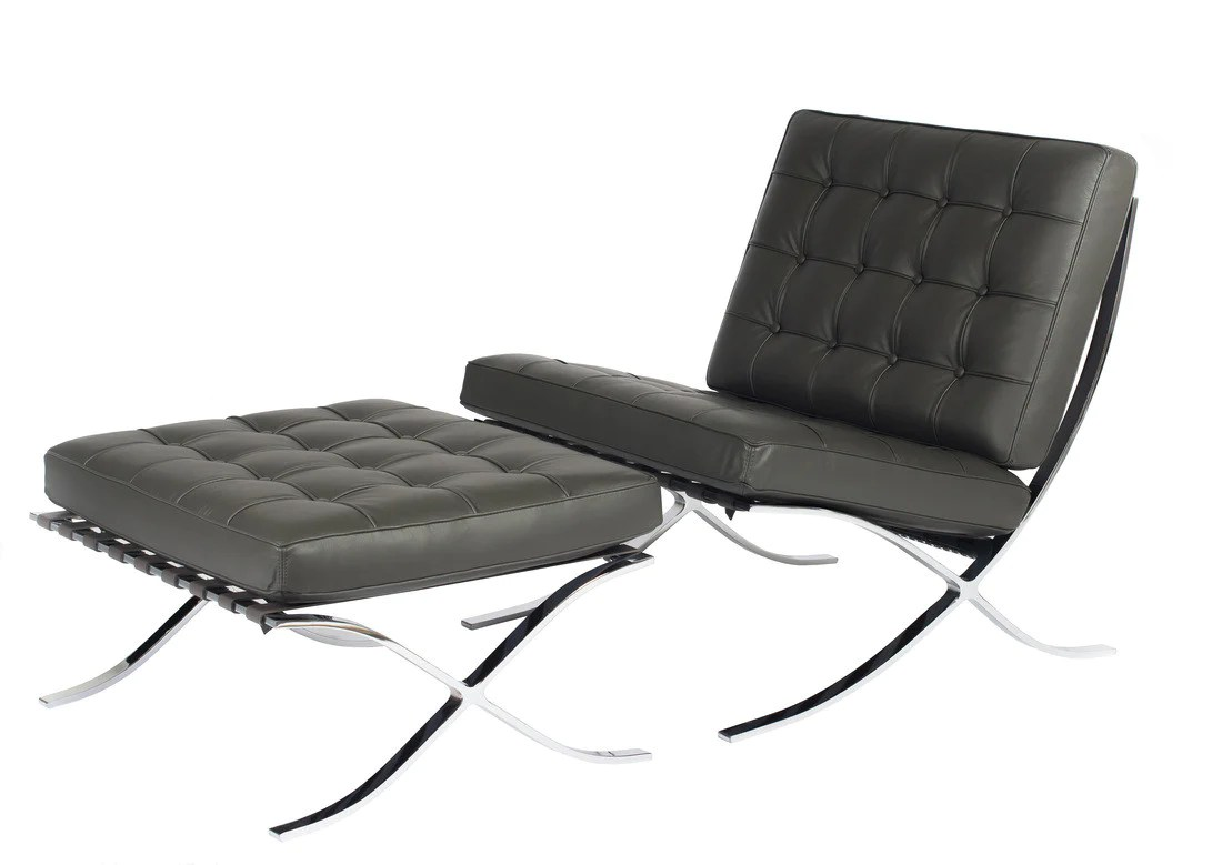 Leather Lounge Classic Modern Leather Lounge Chair And Ottoman