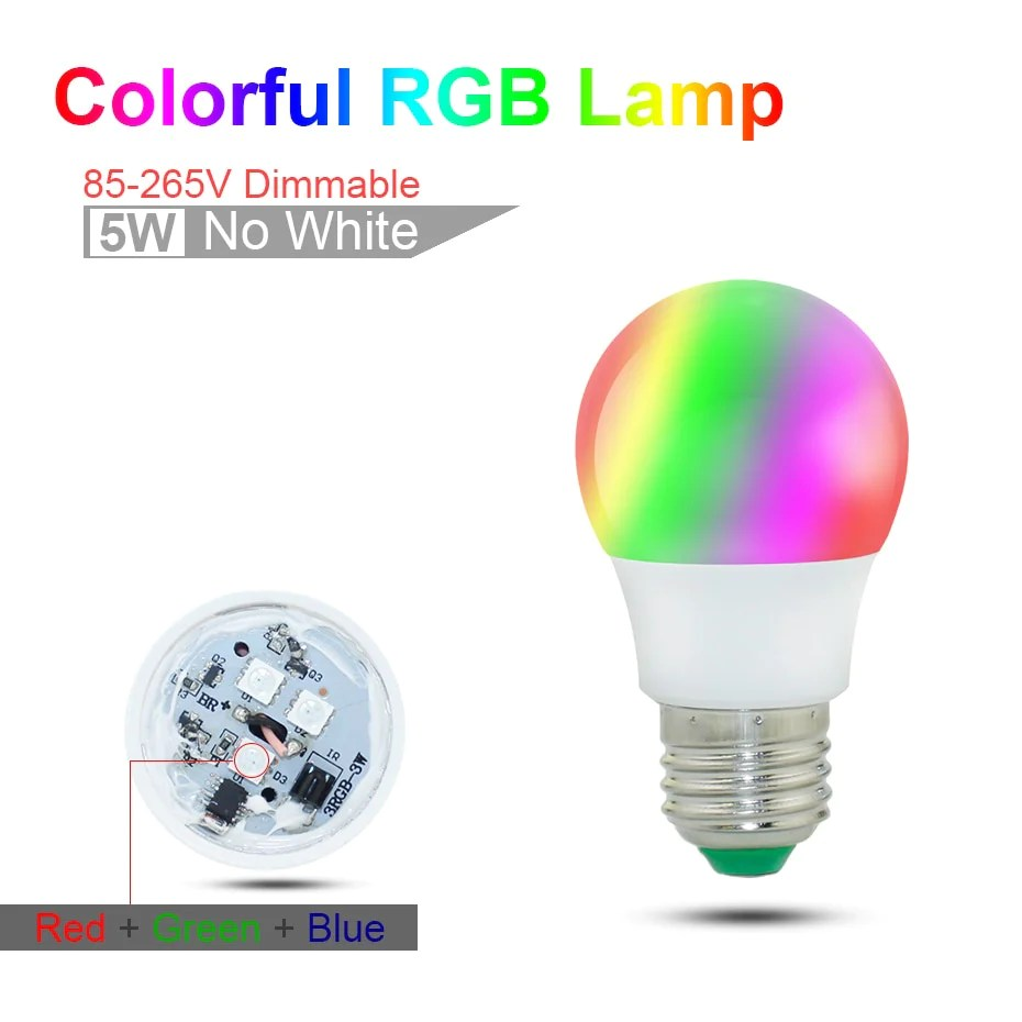 Led Bulbs Rgb Led Bulb E27 E14 16 Color Changing Light Candle Bulb Rgb Led Spotlight Lamp Ac85 265v E27 E14 Rgb Bulb Lamp Ac85 265v 3w 5w 10w 15w Rgbw Rgbww Led Spot Light Dimmable Magic Rgb Bulb With Ir Remote Control 16 Colors