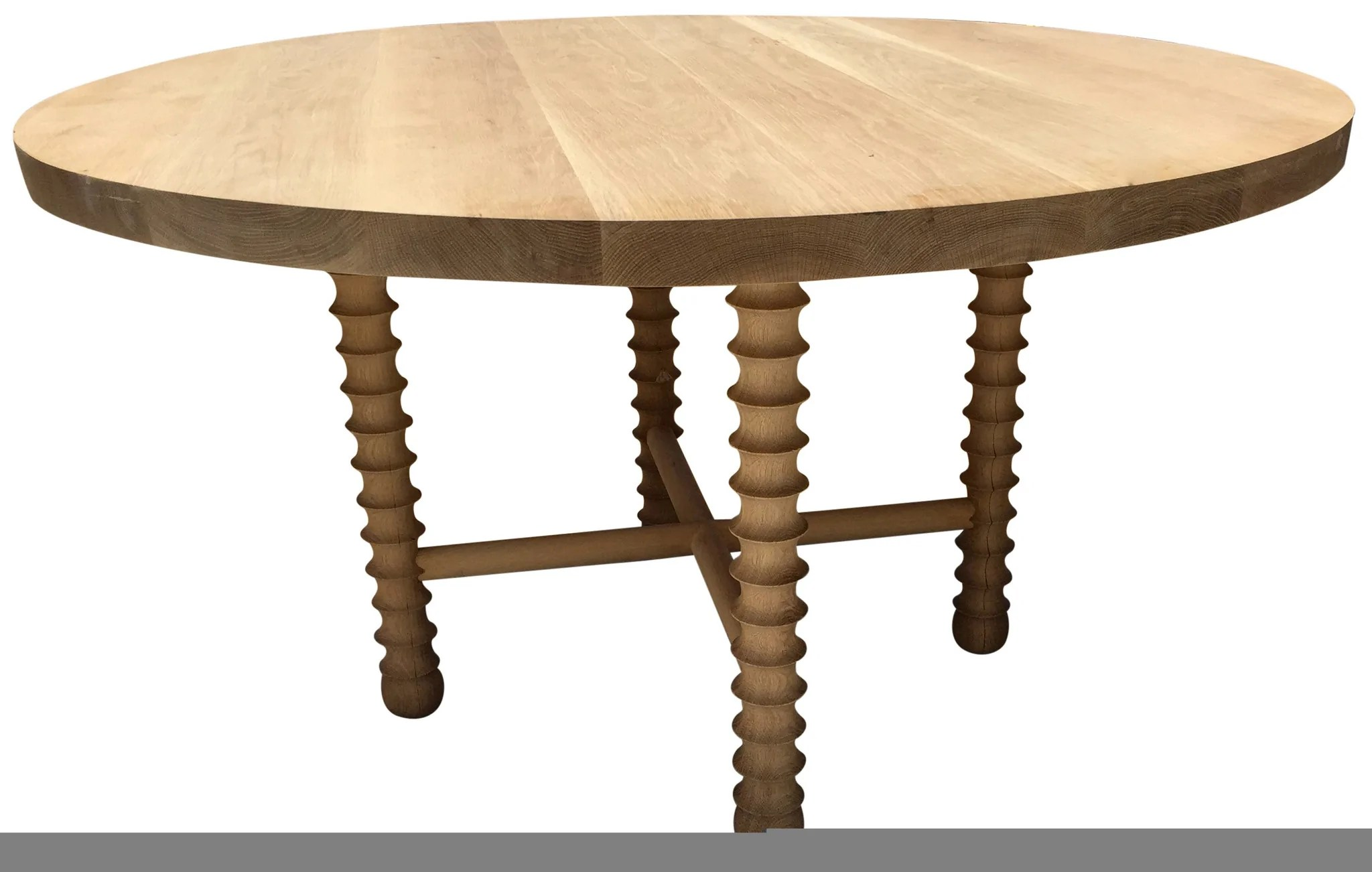 Round Oak Dining Table Modern Large White Oak Round Dining Table Haskell Design