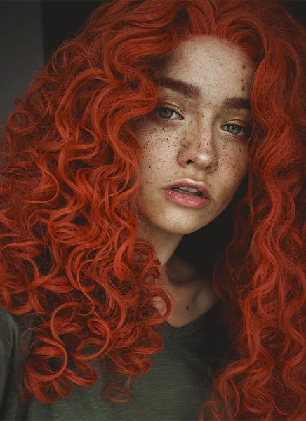 Orange Wig Bob Orange Red Spiral Curly Lace Front Synthetic Wig Lf663j