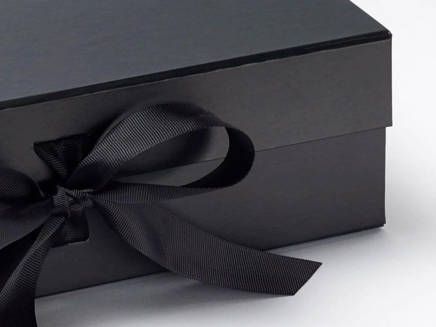 Black Gift Boxes Black Large Gift Boxes With Fixed Grosgrain Ribbon
