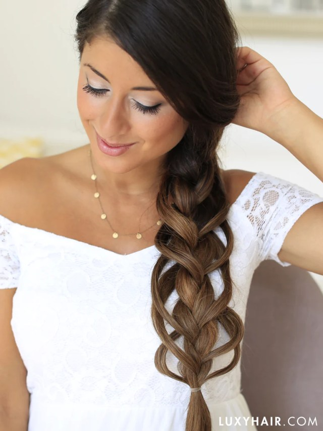luxy hair feather loop braid