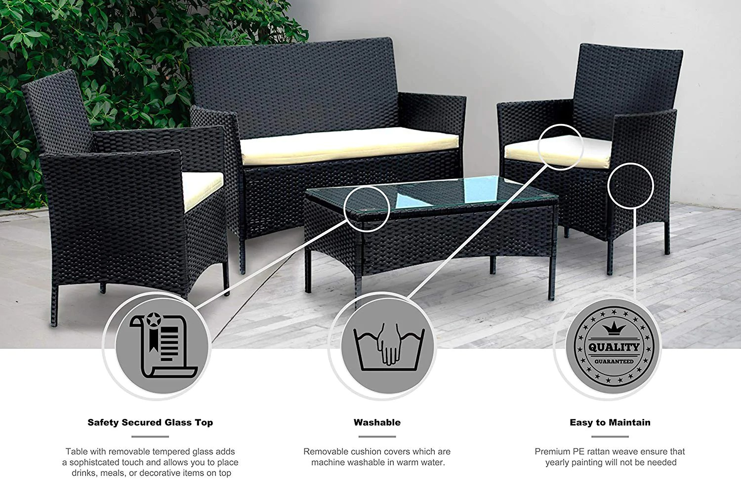 Rattan Sofa Set Clearance Ids Home Patio Furniture Set Clearance Rattan Wicker Patio Dining Table And Chair Indoor Outdoor Furniture Set Balcony Dining Set