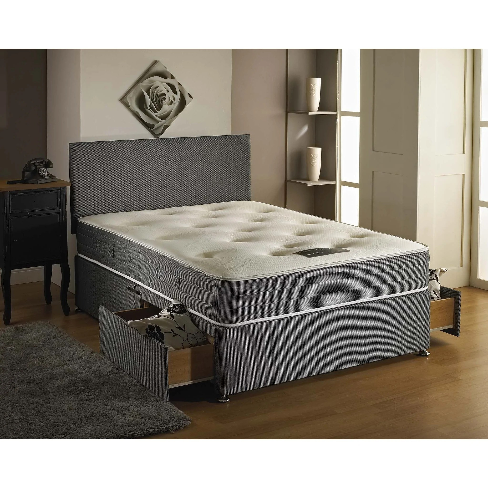 Double Divan Beds Venice Memory Foam Double Divan Bed Sure Sleep Beds