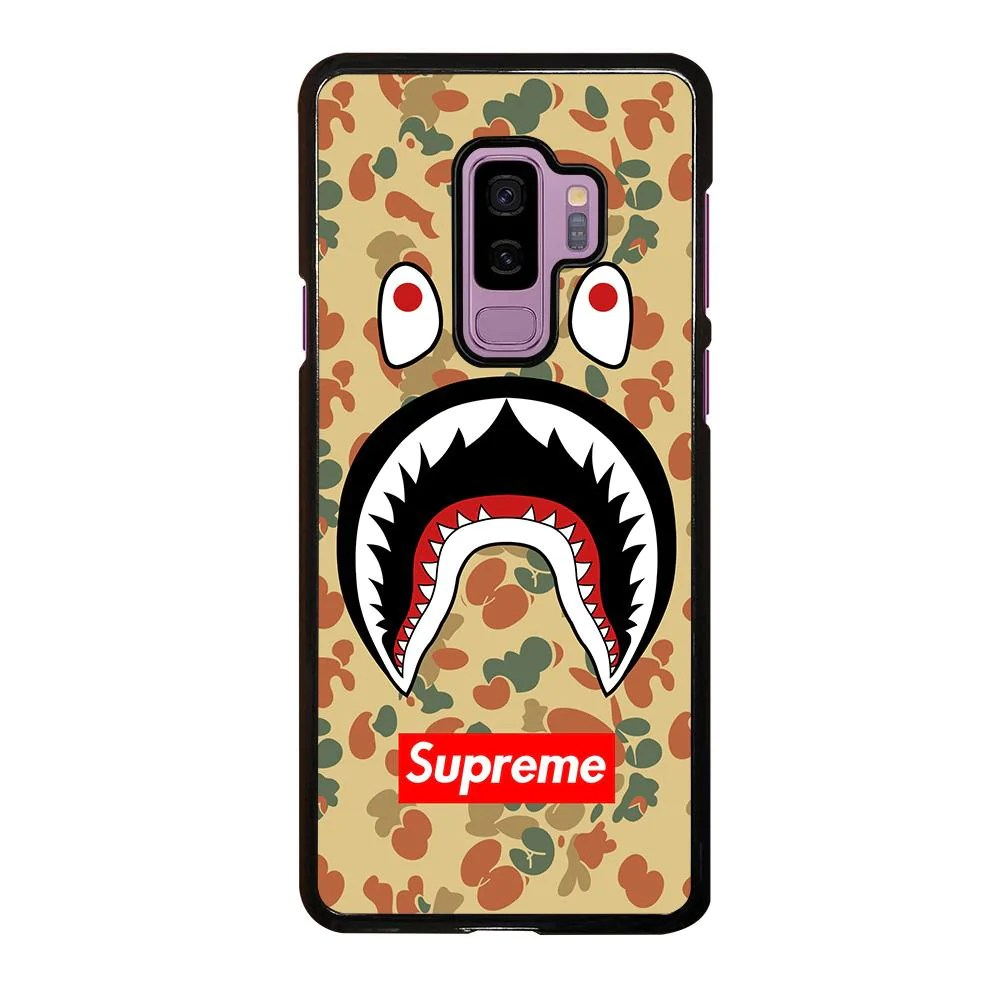 Mobile De24 Bape Camo Shark Supreme Samsung Galaxy S9 Plus Case Cover Favocase