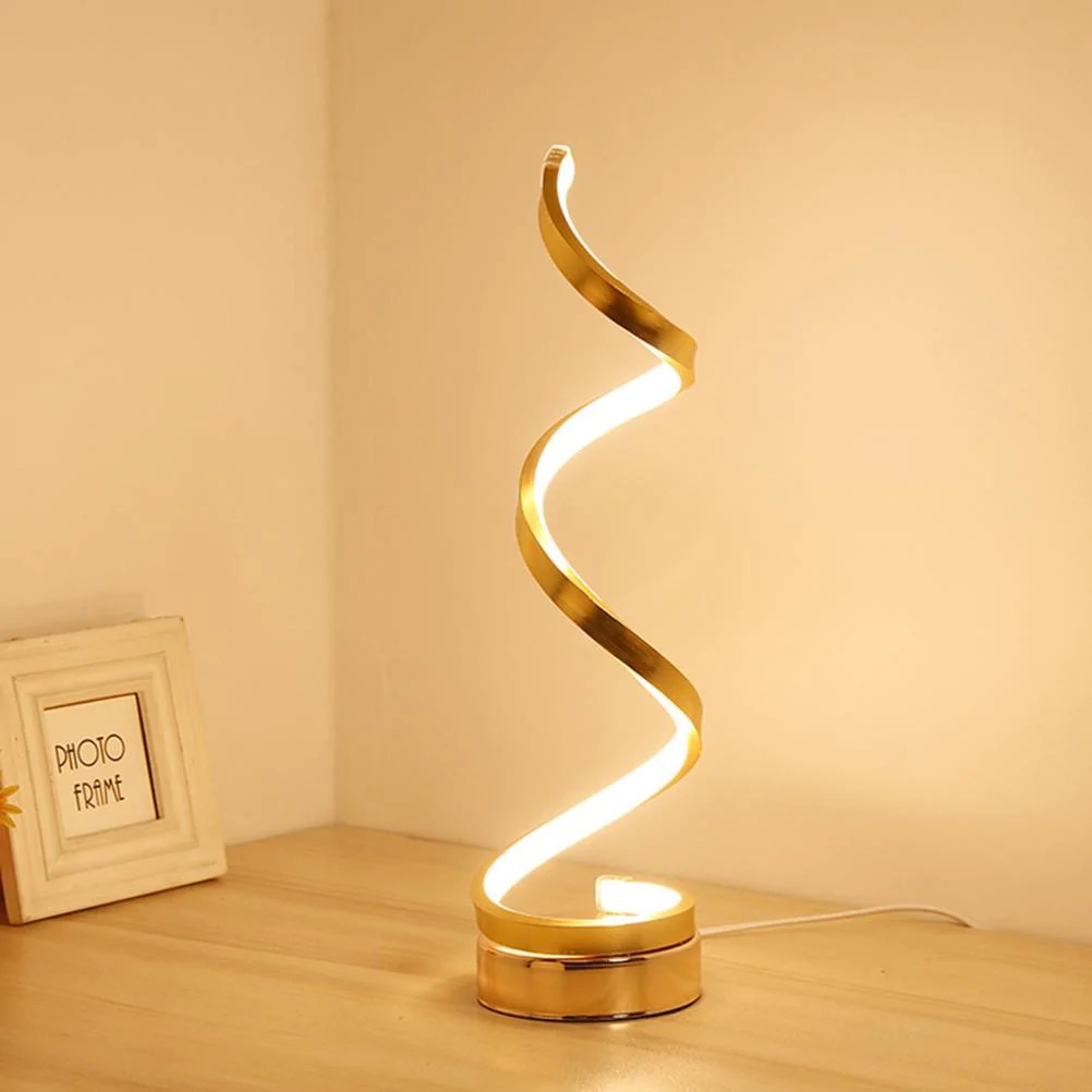 Modern Lamps Led Modern Design Spiral Table Lamp Dimmable Europe And Uk Only