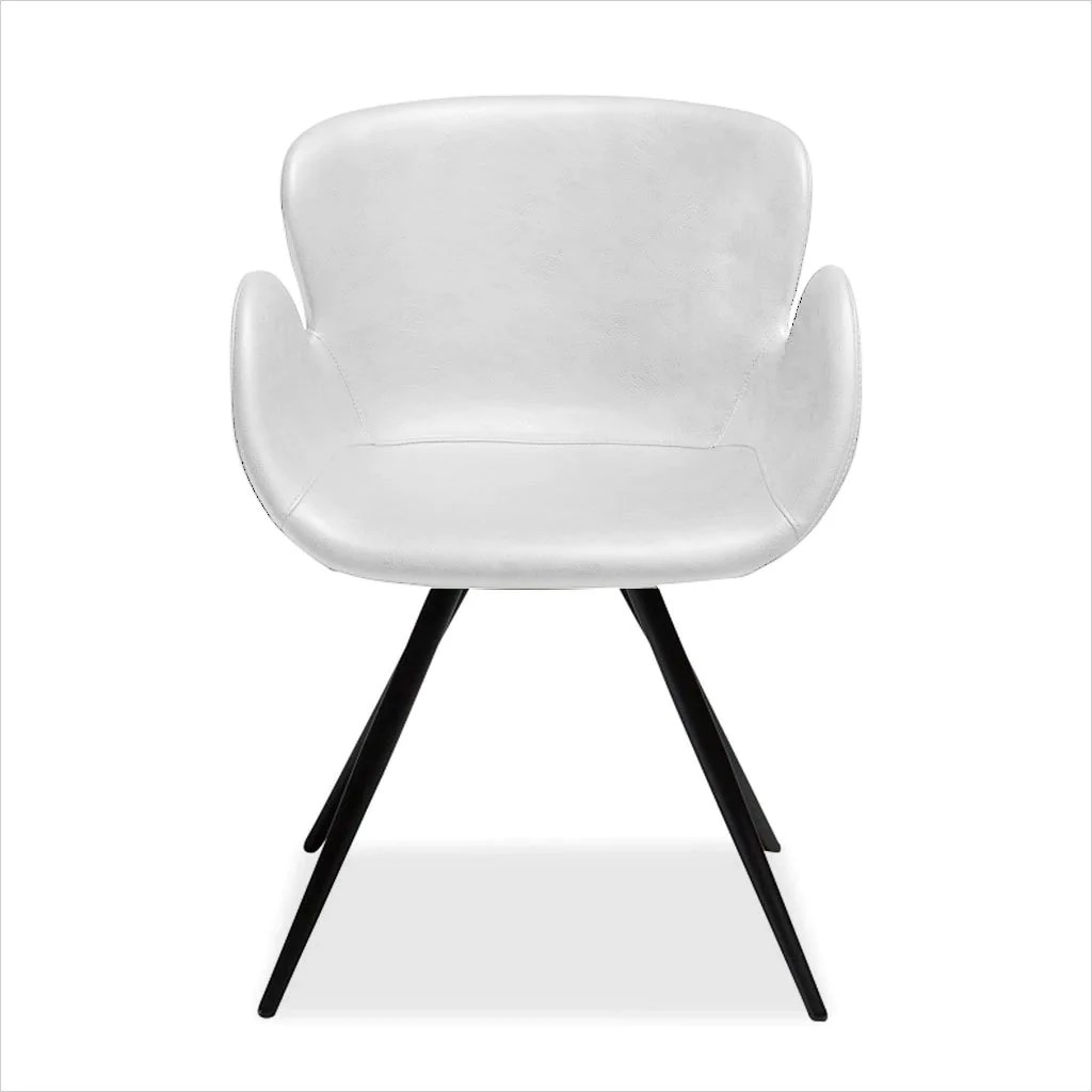 Rhea Swivel Dining Chair White Scan Design Modern And Contemporary Furniture Store
