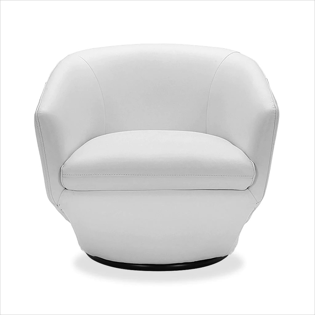 Capri Swivel Chair White Scan Design Modern And Contemporary Furniture Store