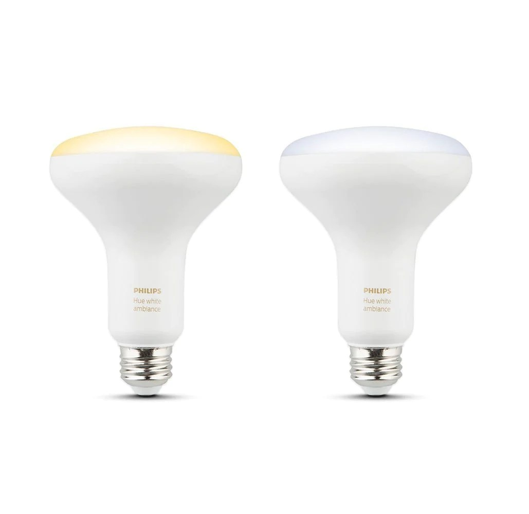 Philips Hue Br30 2 Pack Philips Hue White Ambiance 3rd Generation Br30 Dimmable Led Smart Bulbs