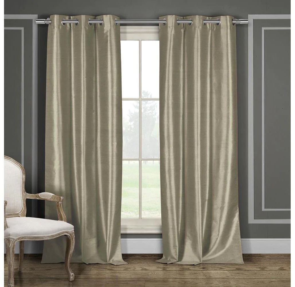 Faux Silk Curtains Bali Faux Silk Grommet Top Curtains 2 Or 4 Pack