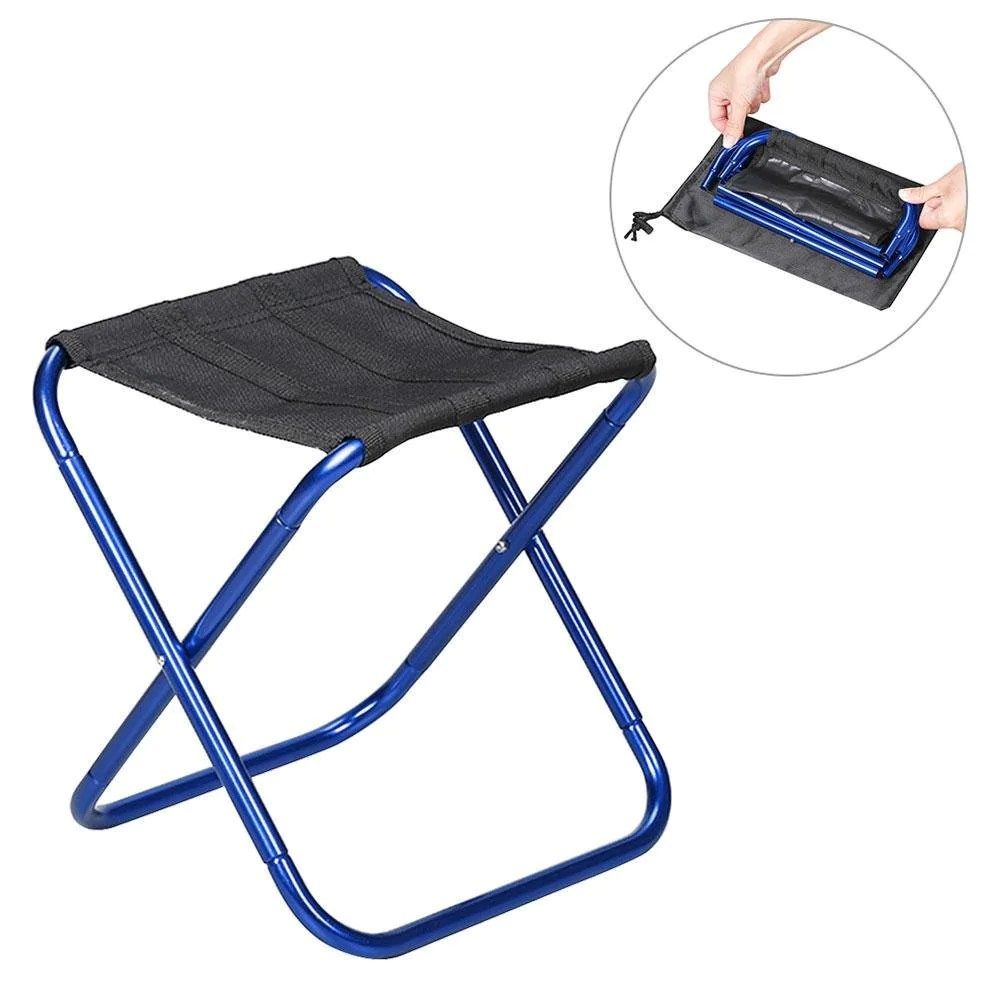 Portable Stool Leegoal Portable Folding Chair Compact Ultralight Folding Stool Seat With A Carry Bag Heavy Duty 300 Lb Capacity For Hiker Camp Beach Outdoor
