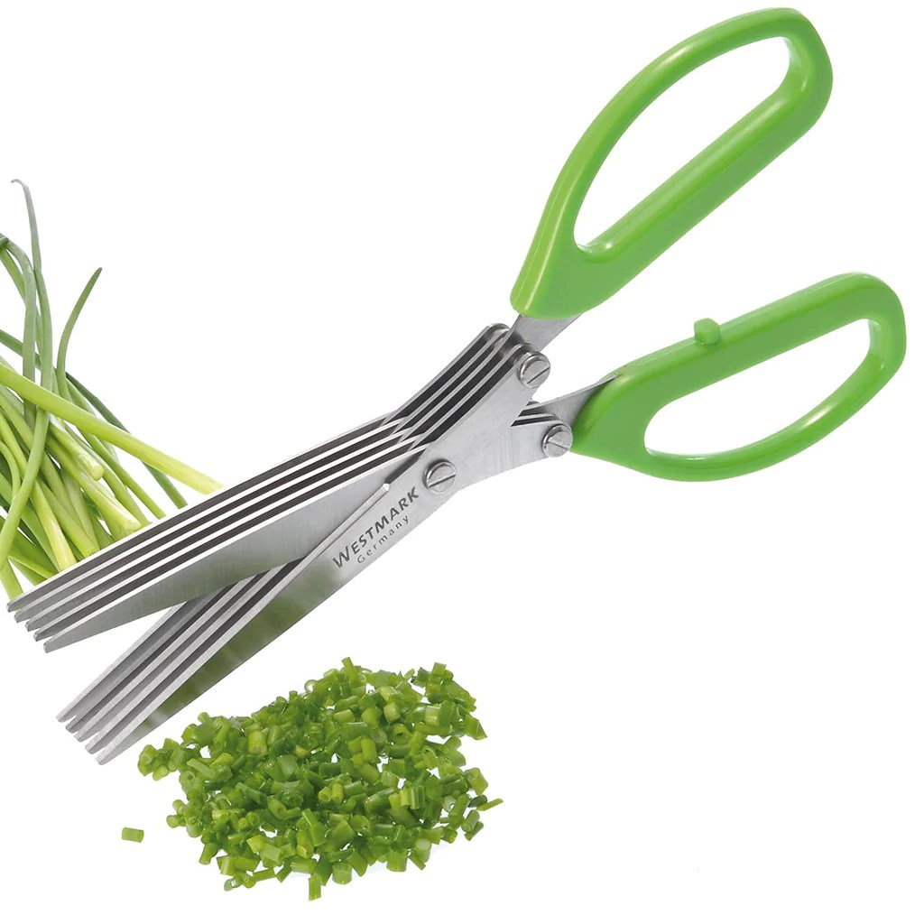 Westmark Elspe Westmark Germany Stainless Steel 5 Blade Herb Scissors With Cleaning Comb Green