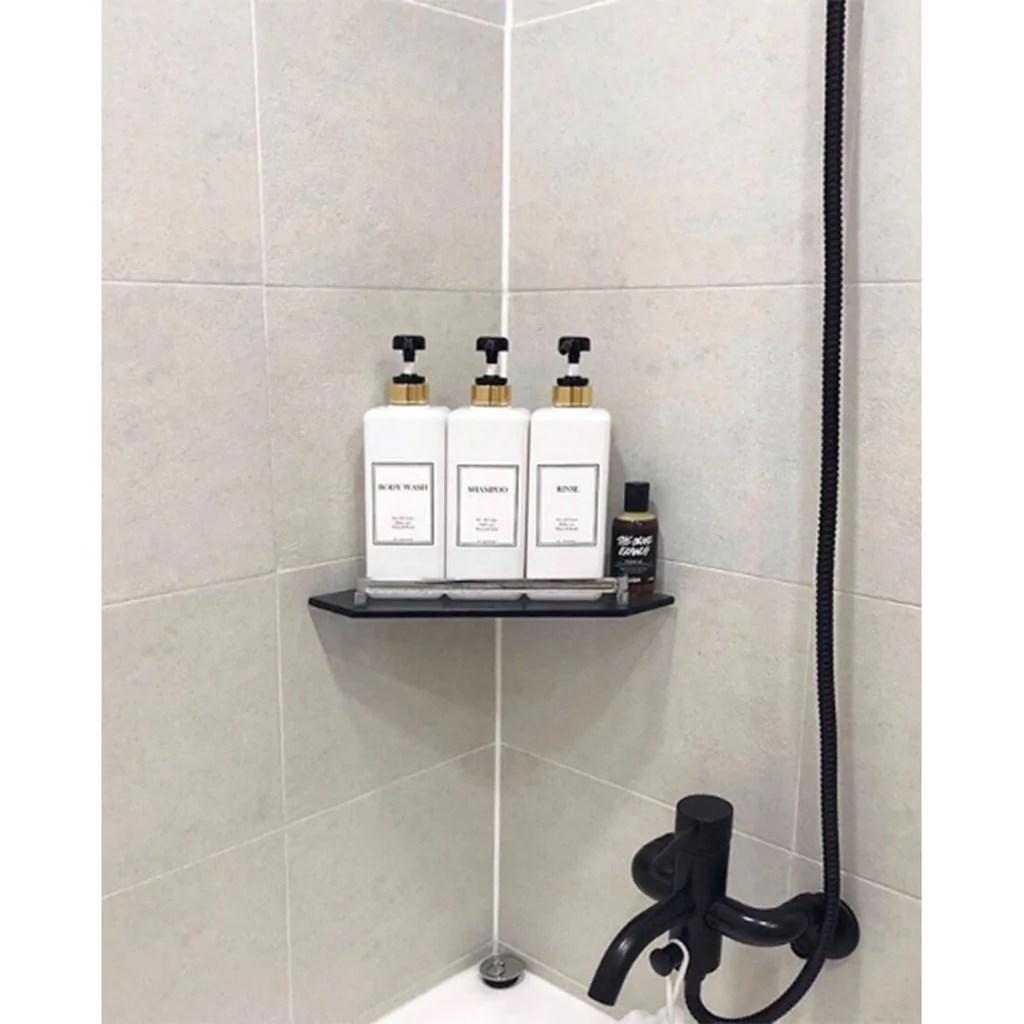 Bathroom Dispenser Set Harra Home Modern Gold Design Shower Dispenser Sets 27 Oz Refillable Bottles With Pumps Pack Of 3