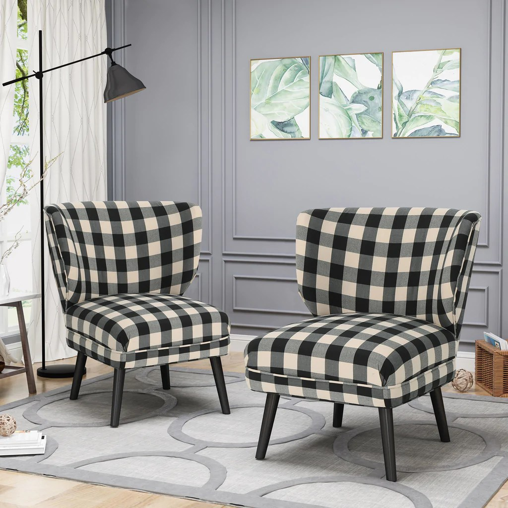Accent Chairs Set Furniture Of America Renoir Leatherette Accent