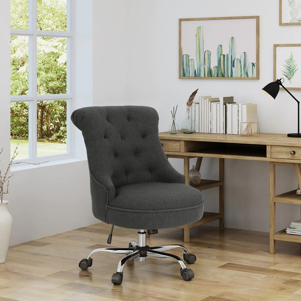 Desk Seat Tyesha Home Office Fabric Desk Chair