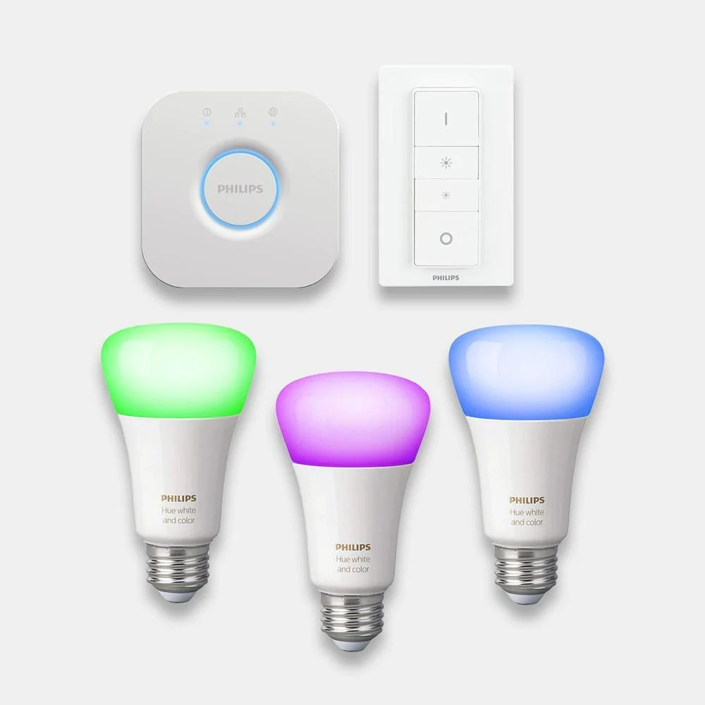 Philips Hue Starter Kit E27 Philips Hue Colour Changing Bulbs Starter Kit E27 B22