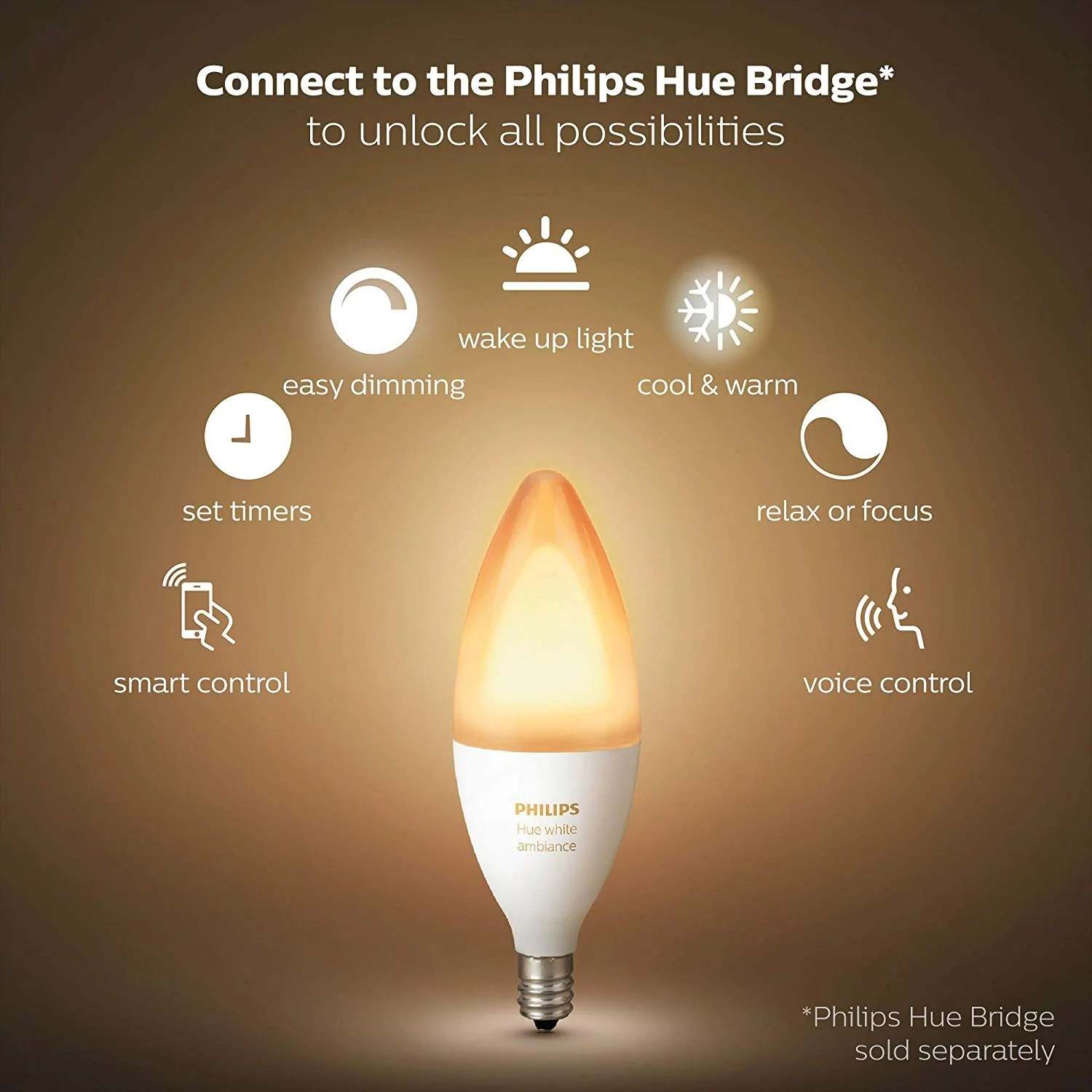E14 Led Philips Philips Hue White Ambiance Wireless Lighting E14 Led Twin Pack
