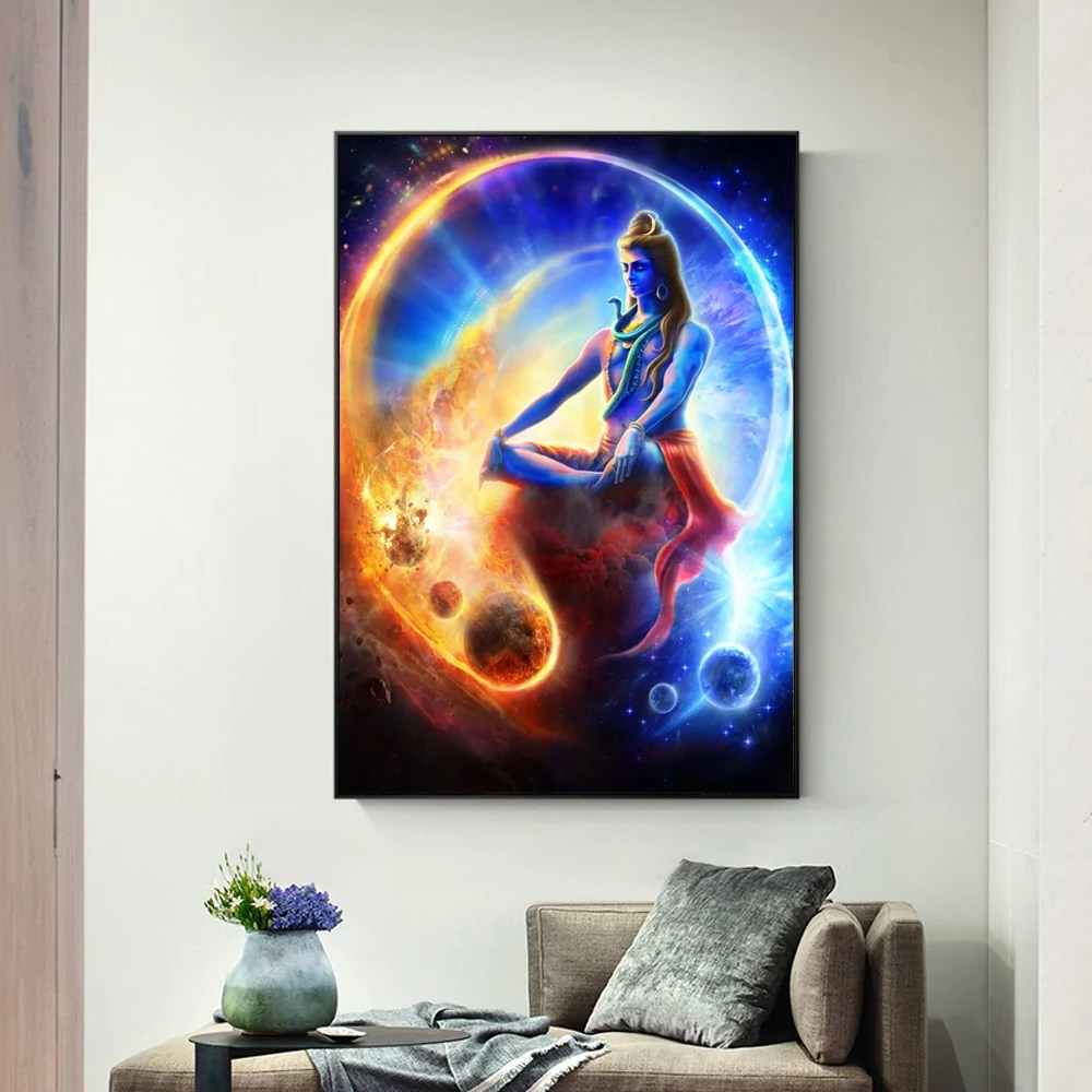 Art Wall Lord Shiva Canvas Art Wall Paintings Home Decor Hindu Gods Modern Wall Posters And Prints Hinduism Cuadros Art Wall Pictures