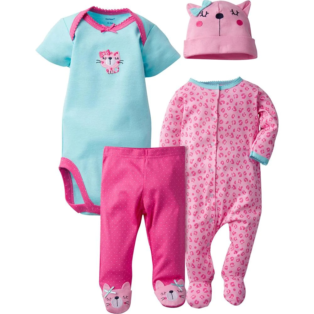 Newborn Infant Outfits Baby Girl Clothes Gerber Childrenswear