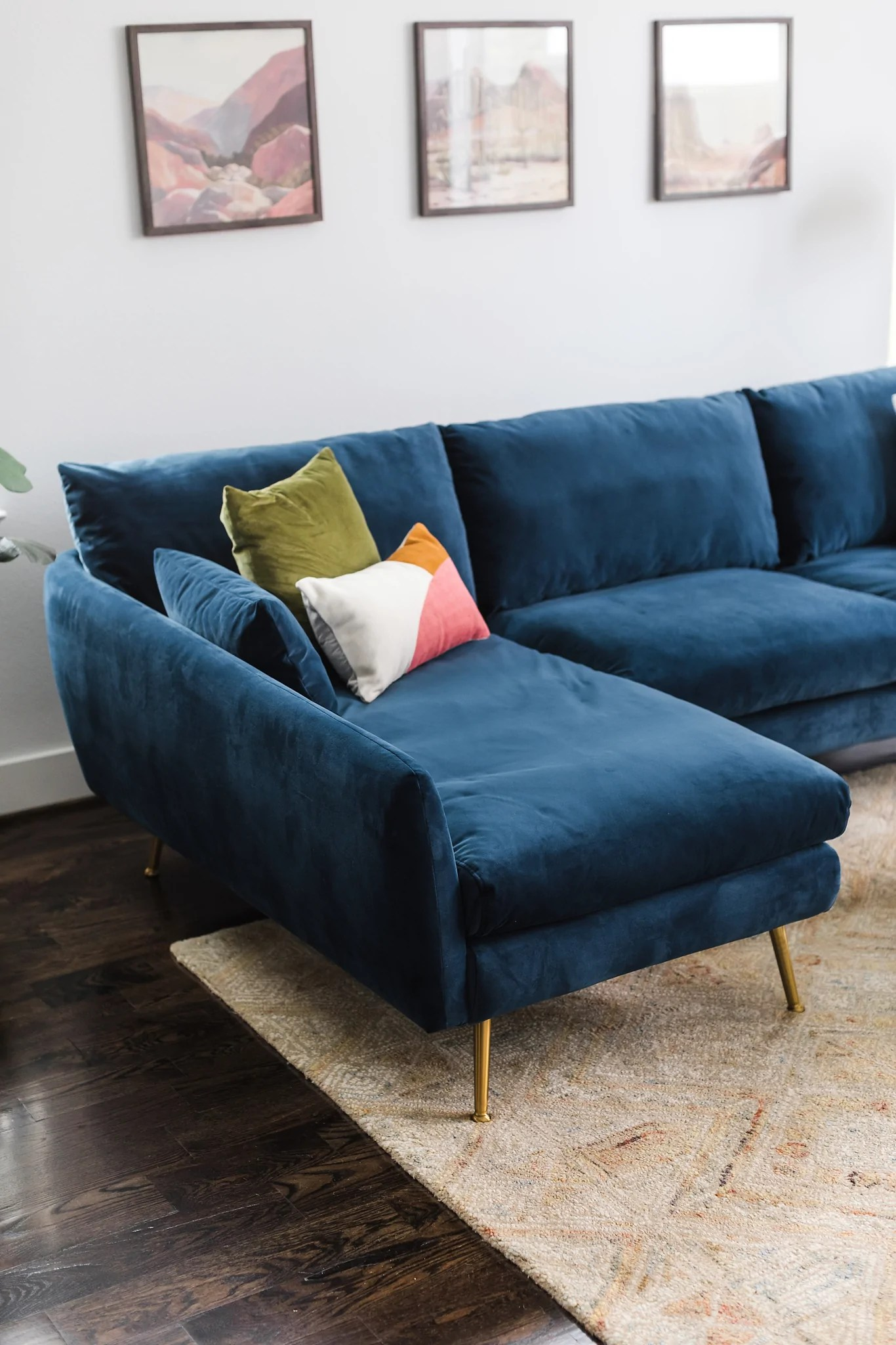 Albany Park Mid Century Modern Sectional Sofa Cozy Designer Couch Albany Park