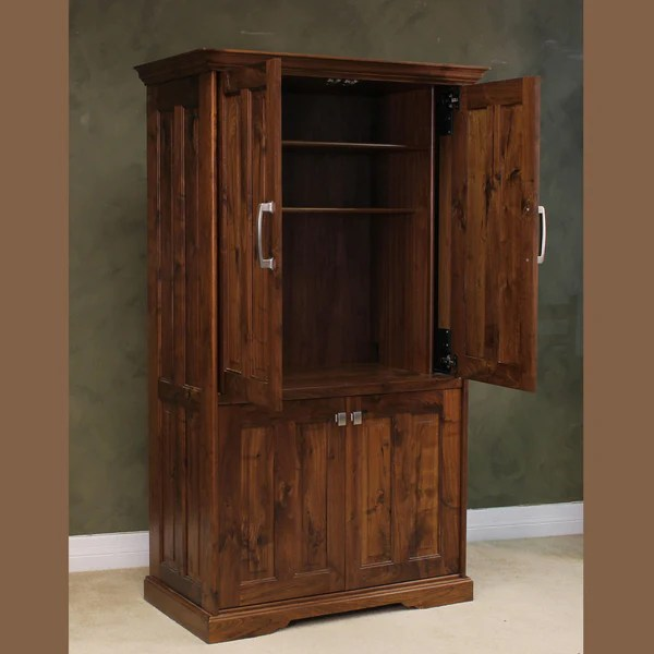 Modern Computer Desk Computer Armoire | Wood Revival