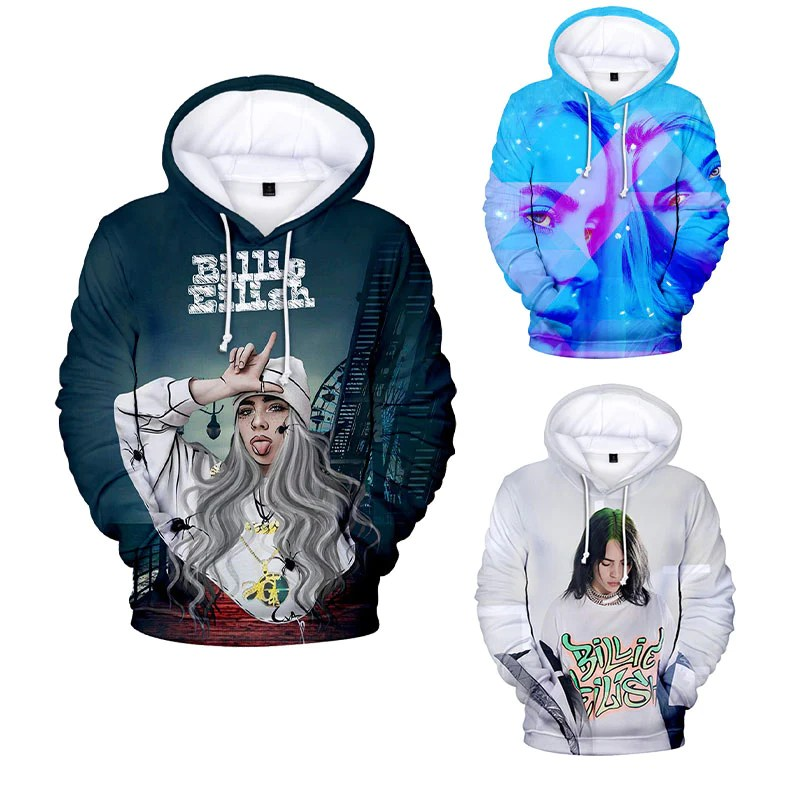 Pullover Hoodie From Pink Billie Eilish Long Sleeve Pullover Hoodies – Uhoodie