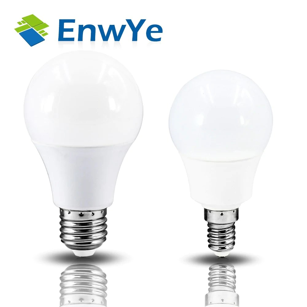 Led E 14 Enwye Led E14 Led Lamp E27 Led Bulb Ac 220v 230v 240v 15w 12w 9w 6w 3w Lampada Led Spotlight Table Lamp Lamps Light